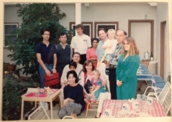 BBQ at Hartmut and Shaila's place, ~ 1990